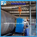 Máquina del chorreo con granalla de la pared externa del tubo de acero
