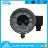 4 '' 100mm tout l'indicateur de pression électrique de contact d'acier inoxydable