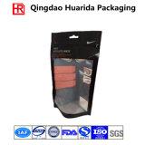 Bolso plástico transparente del embalaje de la ropa de la venta caliente con la cremallera