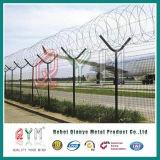 Clôture de l'aéroport de sécurité / Cheap enduit de PVC Clôture de l'aéroport / Clôture treillis soudé
