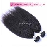 인도 Virgin 머리 머리 공장에서 비꼬인 똑바른 사람의 모발 도매