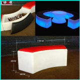LED Bend Stool Otomano de cambio de color Otomanos recargables