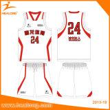 熱い販売よいデザイン染料の昇華バスケットボールジャージー