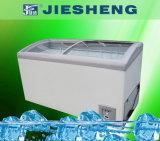 Congelador de vidro curvado da caixa do gelado da porta (SD/SC-358Y)