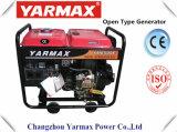Gruppo elettrogeno diesel raffreddato aria del blocco per grafici aperto del cilindro del motore diesel di Yarmax Ym2500ea singolo Genset