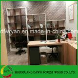 Moderne Qualitäts-weißer und hölzerner Korn-Büro-Möbel-Bücherschrank