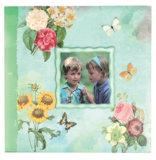 Álbum de papelaria de papelaria DIY com quadro