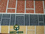 Тисненые металлические жесткой PU пены Сэндвич панели для установки на стене художественным оформлением и короткого замыкания