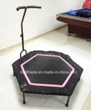 Adultos 48 polegadas Hexagonal Mini Fitness Trampoline com alça