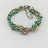Il braccialetto della lega di modo di Jewellry dell'annata con Chaming borda il braccialetto delle signore