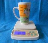 La coutume en forme de V pleine d'impression de l'autocollant céramique/grès de tasse de café tasse de thé pour la promotion (WSY 147 m)