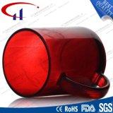 tazza di vetro dell'acqua di vendita calda di colore rosso 240ml (CHM8133)