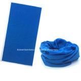 OEMの農産物はロゴによってMicrofiber印刷された青い多機能の魔法のSprots Headwearの管状のもみ革をカスタマイズした