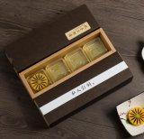 2017 bens na venda por atacado conservada em estoque 4 blocos da caixa de Mooncake do papel de embalagem, Caixa de bolo, caixa de presente de Mooncake