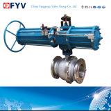 API 6D de alta presión válvula de bola de muñón de neumáticos