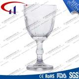 210ml gravierter Feuerstein-Glas-Wein Stemware (CHM8372)
