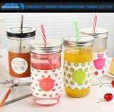 bottiglia di vetro del limone 650ml della bevanda del contenitore freddo creativo del caffè