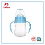 Garrafa de leite de plástico em forma de arco no pescoço largo