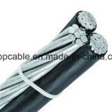 Cavo Triplex isolato PE di alluminio del conduttore
