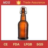 بالجملة عالة كهرمانيّة [بير غلسّ] يخمّر زجاجة مع مشبك غطاء