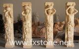 Colonna romana intagliata pietra con le figure (BJ-SCULPTURE0046)