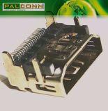 PC/Notebook/STB/TV/HDTV/DV/MID/Removableのメモリのための縦の差込19pin女性HDMIのコネクター
