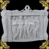 Meilleur Relievo en marbre blanc pour la décoration d'accueil