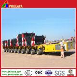De machines vervoeren de Hydraulische Modulaire Op zwaar werk berekende Aanhangwagen van de Apparatuur