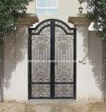 Portas residenciais decorativas usadas casa de campo do ferro feito de Médio Oriente
