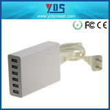 USB Device를 위한 세륨 FCC RoHS Approved High Quality 60W 6 USB Charger
