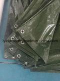 Housse de bâche en plastique vert foncé finie