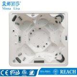 Baquet chaud de STATION THERMALE hydraulique acrylique extérieure de massage de rectangle (M-3322)