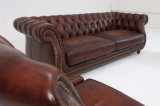 Sofa de bonne qualité de Chesterfield de couleur de Brown