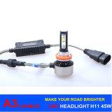 Canbus 기능 A3 H7 LED 헤드라이트 45W 6000lm LED 차 빛