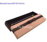 Коробка упаковки роскошного бумажного подарка ювелирных изделий картона деревянная