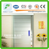 2-12mm Ácido claro Ácido Vidro / Vidro fosco / Vidro decorativo / Vidro de casa de banho / Vidro de porta / Vidro temperado / Vidro de segurança com lado único ou lado duplo