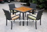Eetkamer stoel en tafel / Rotan tuinmeubelen (BP-379)