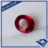 Le corindon rouge ovale Gems lâche Ruby CR001
