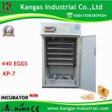 Haute qualité avec une capacité de 440 oeufs incubateur d'oeufs de volaille entièrement automatique