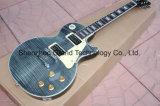 Guitarra feita sob encomenda padrão do estilo transparente do Lp do preto (GLP-88)