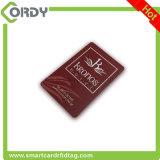 Cartão de microplaqueta IMPRESSO do PVC RFID de EM4100 125kHz com carimbo quente do ouro