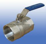 valvole a sfera dell'acciaio inossidabile 1PC con la maniglia d'inversione