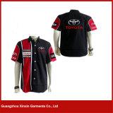 Chemise en gros de moto de broderie avec vos propres logos (S93)