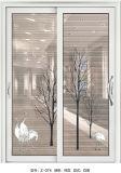 형식 두 배 강화 유리를 가진 알루미늄 미닫이 문 모형