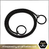 Черная цепь Mjcn018 собаки нержавеющей стали