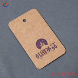 China Printting Personalizado Matt pendurar roupa de Papel Kraft Tags