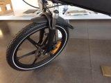 """セリウム20の""""隠されたリチウム電池が付いているアルミニウムフレームの電気折る自転車"""