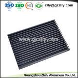 Profil personnalisé pour dissipateur de chaleur en aluminium avec anodisation & CNC