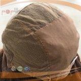 Perruque médicale en soie de cheveu humain de Vierge première (PPG-l-0825)