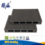 Placa composta plástica de madeira Grooved do Decking da face dobro 150*25mm